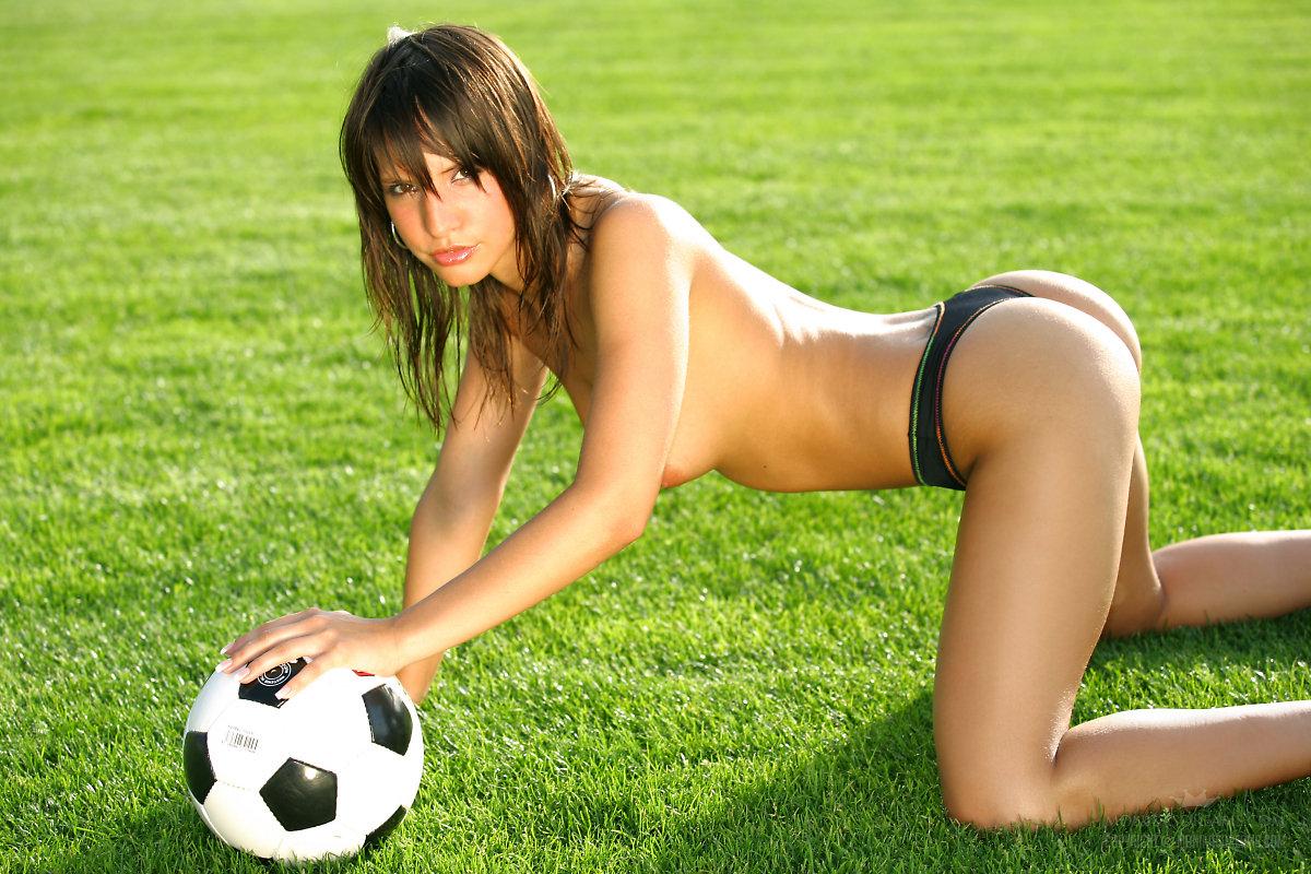 Nude football player