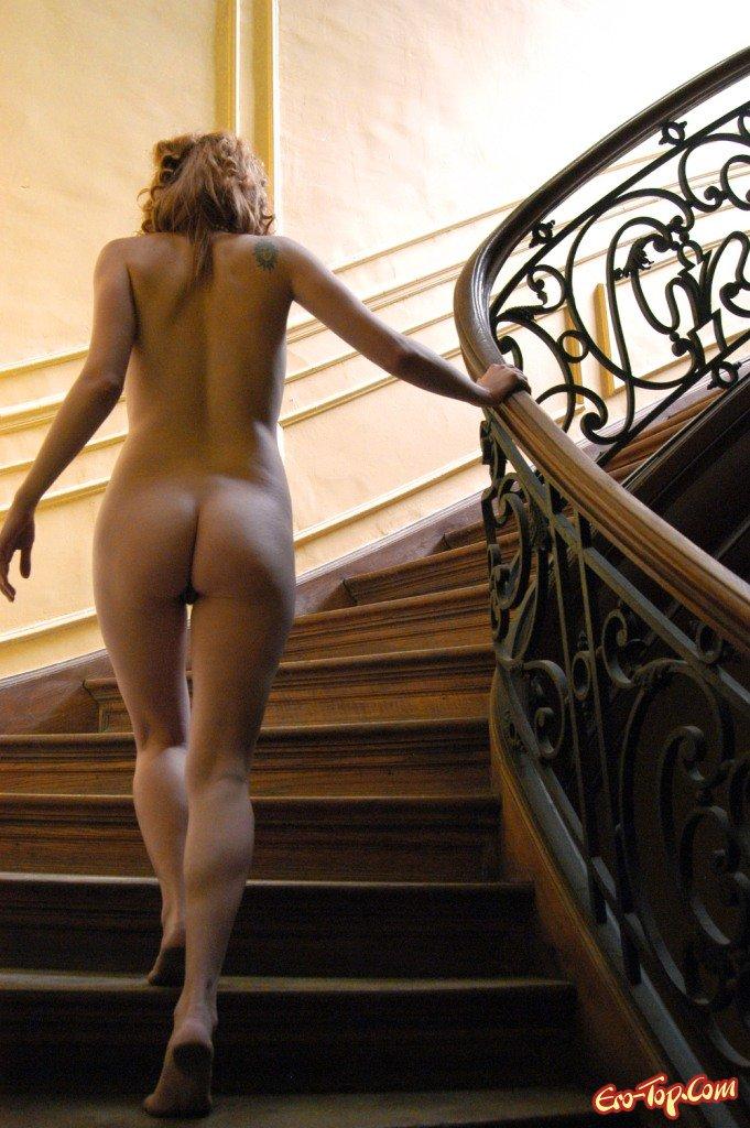 Nude descending stair premium giclee print